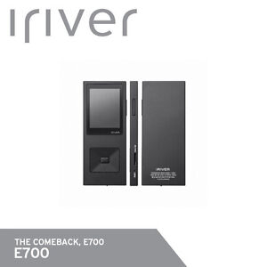 iRiver E700 Digital Audio Player Hi-Fi DSD mp3 FLAC APE 8GB 65g Free UPS /Black
