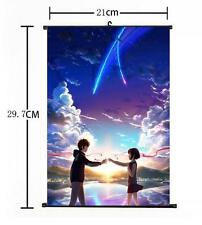 """Hot Japan Anime Your Name Poster Wall Scroll Home Decor 8""""×12"""" 02"""