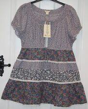 BNWT - £38 - Monsoon Connie Ditsy Flower Print Boho Short Sleeve Top - UK 12