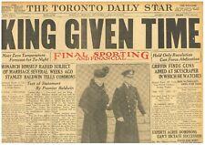 Edward V111 Abdication 7 December 1936 Baldwin Won't Rush King Given Time