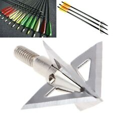 Silver Broadheads Outdoor Arrowhead Crossbow Tips Hunting Arrow Head