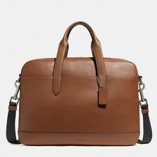 Coach F22529 Men's Hamilton Bag In Saddle Leather Laptop Bag Briefcase $450