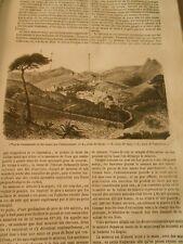 Mines d'argent de Guanaxuato au Mexique Gravure Print 1844