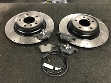 BMW 325 330i 330 335 E90 91 92 E93 BRAKE PADS DISC CROSS DRILLED GROOVED REAR