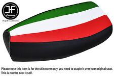 ITALIAN STRIPE WHITE STITCHING CUSTOM FOR PIAGGIO VESPA PX 125 VINYL SEAT COVER