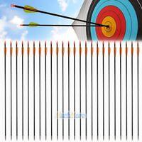 "36pcs 33"" Archery Arrow Fiberglass Arrows Nocks Fletched Target Practice Hunting"
