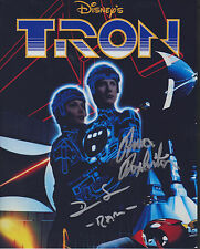 BRUCE BOXLEITNER + DAN SHOR Actors TRON Movie SIGNED 8X10 Photo