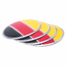 4Pcs Universal Car Wheel Center Hub Cap Germany Flag Emblem Badge Decal Sticker