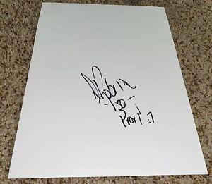 David Robinson Signed 8 1/2 x11 Blank San Antonio Spurs With Proof