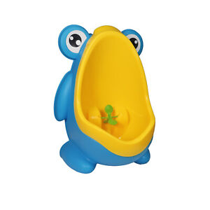Toddler Toilet Trainer Detachable Boy Urinal Training Fun Blue Frog With Arms