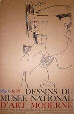 Modigliani affiche Musée d'art Moderne dessins 1890-1945 portrait de Picasso