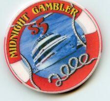 $5.00  Millennium Chip. Midnight Gambler .