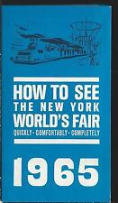 1965 How To See the New York World's Fair Booklet Go Greyhound Map Bus Routes NY
