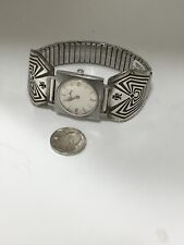 NATIVE AMERICAN NAVAJO STERLING SILVER Watch 83566 Lucien Piccard Fire 5021