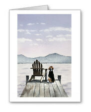 Beagle on the Dock Set of 10 Note Cards With Envelopes