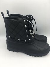 Women's Sperry Quilted Black Duck Boots US Size 8