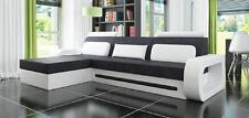 Designer Ecksofa Sofa Couch Polster Garnitur Stoffsofa Leder Textil Stoff Davos
