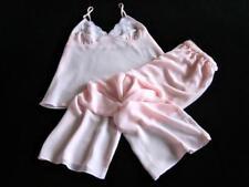 Sheer Pink Lacy Chiffon Cami Pyjamas XL NEW Long PJs Sexy Lingerie Camisole Set