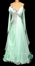 Women Ballroom Standard Waltz Tango Smooth Dance Dress US 8 UK 10 Green