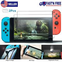 2 Pack Nintendo Switch Screen Protector 9H Tempered Glass HD Clear Anti-Scratch