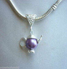 Pearl Silver Plated European Jewellery Charms
