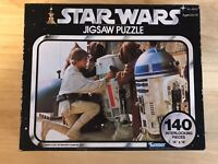 Vintage Star Wars 140 Piece Puzzle 1977 Luke Skywalker R2-D2 Kenner Complete