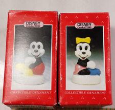 1991 Schmid Disney Ornaments NIB, Mickey and Minnie Ceramic  #281-084, #281-085