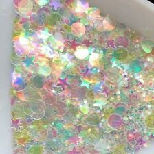 USA CLEAR RAINBOW GLITTER SHAPES COLOR SHIFTING Acrylic Gel Nail Art Nail Polish