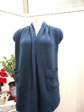 """angel eye"" ladies blue knitted  top/cardigan b.n.w.t. freesize"