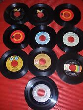 LOT OF 10 VINTAGE 45 RECORDS PAT BOONE, BUCK OWENS & SUSAN RAYE ETC G/VG+++