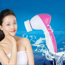 5 in1 Face Multifunction Electric Facial Cleansing Brush Spa Skin massage