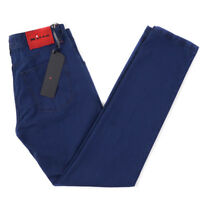NWT $1095 KITON NAPOLI Five Pocket Blue Woven Pattern Cotton Jeans 33 W