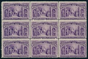 "US Sc# 235 *MINT OG NH* { ""SCARCE BLOCK OF 9 } BEAUTY 6c COLUMBIAN CV$ 1,440.00+"