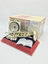 "Trumpet Alarm Clock W/Sound- Collectible Instrumental-9""l x 6""h x 5""w-Real Sound"