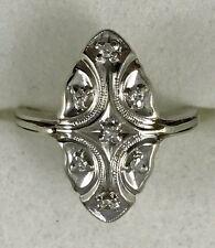 """18K White Gold Vintage """"Art Deco"""" Ladies Diamond Ring"""
