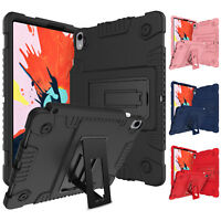 For iPad Pro11 inch 2018 Shockproof Kickstand Holder Silicone Armor Case Cover