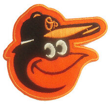 New MLB Baltimore Orioles logo embroidered iron on patch. 3 3/8 x 3 inch (IB32)