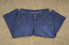 Jag Jeans Womens Petite Mid-Rise Stretch Capri / Cropped Dark Blue Denim size 8P