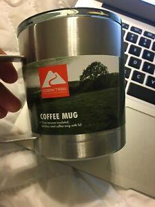 Ozark Trail 12-oz vacuum-insulated stainless steel Coffee mug w/ handle & lid