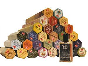 HEM Räucherstäbchen Mega Sparset. 30 verschiedene Packungen & 1 Patchouli Parfum