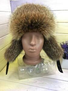 Men's fox fur leather hat for winter, Russian ushanka, earflap hat, LITVIN