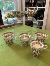 Vintage Coalport England Indian Tree (6) Pieces Cups Creamer Sugar Period 1801