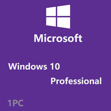 Microsoft Windows10 Pro Professional 32/ 64bit Genuine Product Key+Download Link