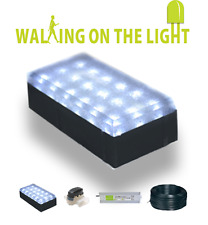 12x LED Block Paving Ligths 10*20cm + Cable Driver Waterproof Connectors