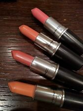 MAC Is Beauty Lot Set of 4 Lipsticks Highlights/Real Redhead/Pure Vanity/Catty