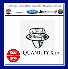 10x FIAT GRANDE PUNTO COWL GRILLE COVER CLIPS EXTERIOR APRON STRIP WINDSCREEN