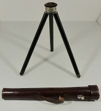 Vintage Telescoping Camera Tripod Stand With Leather Case