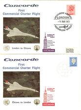 1er  VOL COMMERCIAL CONCORDE LONDRE  OTTAWA CANADA ET RETOUR 9.3. 1977
