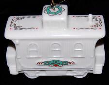 NEW 1990 Lenox Yuletide Express Caboose White w/ 24K Trim Christmas Ornament NIB