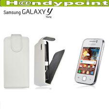 Tasche für Samsung GT-S5360 Galaxy Y Flipcase Hülle Schutzhülle Handytasche Weiß